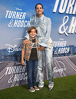 """LOS ANGELES, CA - JULY 15: Jeremy Maguire and Lyndsy Fonseca attend a premiere event for the Disney+ original series """"Turner & Hooch"""" at Westfield Century City on July 15, 2021 in Los Angeles, California. (Photo by Frank Micelotta/Disney+/PictureGroup)"""
