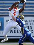 Bishop Gorman's Cedric Tillman goes up for a reception against Reed's Chase Merrill during the first half of the NIAA 4A state championship football game in Reno, Nev., on Saturday, Dec. 2, 2017. Cathleen Allison/Las Vegas Review Journal @NVMomentum