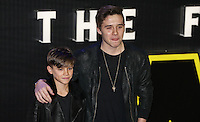 Romeo & Brooklyn Beckham during the STAR WARS: 'The Force Awakens' EUROPEAN PREMIERE at Odeon, Empire & Vue Cinemas, Leicester Square, England on 16 December 2015. Photo by David Horn / PRiME Media Images