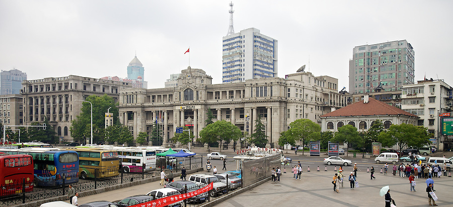 HSBC Building With Butterfield & Swire's Taikoo House To The Right.  National City Bank Of New York To The Left.  Hankou (Hankow), Wuhan.