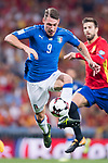 Andrea Belotti of Italy in action during their 2018 FIFA World Cup Russia Final Qualification Round 1 Group G match between Spain and Italy on 02 September 2017, at Santiago Bernabeu Stadium, in Madrid, Spain. Photo by Diego Gonzalez / Power Sport Images