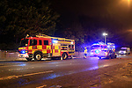 For the second time on Saturday, Drogheda fire service was called to a derelict house on the north road, three units of the fire service tackle the fire that caused extensive damage.<br /> Picture Fran Caffrey / Newsfile
