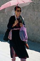 Indien, Ladakh (Jammu+Kashmir), Leh: Ladakhi in Tracht