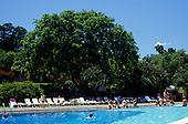 Iguassu, Brazil. The swimming pool at the Tropical Hotel das Cataratas; Parana state.