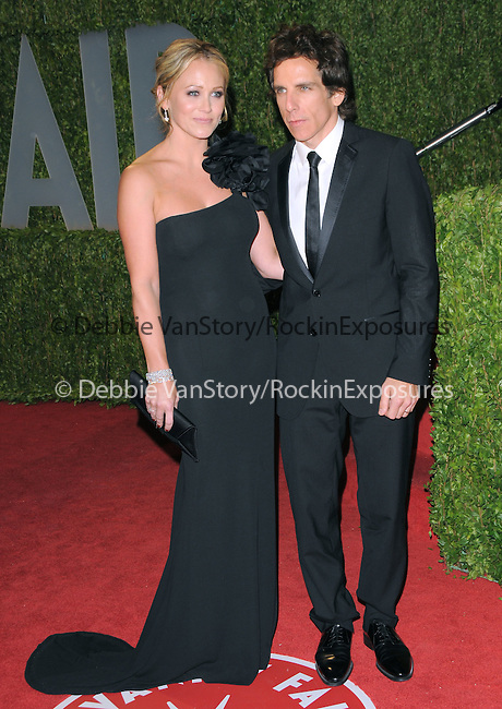 Ben Stiller & Christine Taylor at The 2009 Vanity Fair Oscar Party held at The Sunset Tower Hotel in West Hollywood, California on February 22,2009                                                                                      Copyright 2009 RockinExposures / NYDN