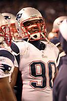 Defensive End LeKevin Smith (Patriots)<br /> New York Giants vs. New England Patriots<br /> *** Local Caption *** Foto ist honorarpflichtig! zzgl. gesetzl. MwSt. Auf Anfrage in hoeherer Qualitaet/Aufloesung. Belegexemplar an: Marc Schueler, Am Ziegelfalltor 4, 64625 Bensheim, Tel. +49 (0) 6251 86 96 134, www.gameday-mediaservices.de. Email: marc.schueler@gameday-mediaservices.de, Bankverbindung: Volksbank Bergstrasse, Kto.: 151297, BLZ: 50960101