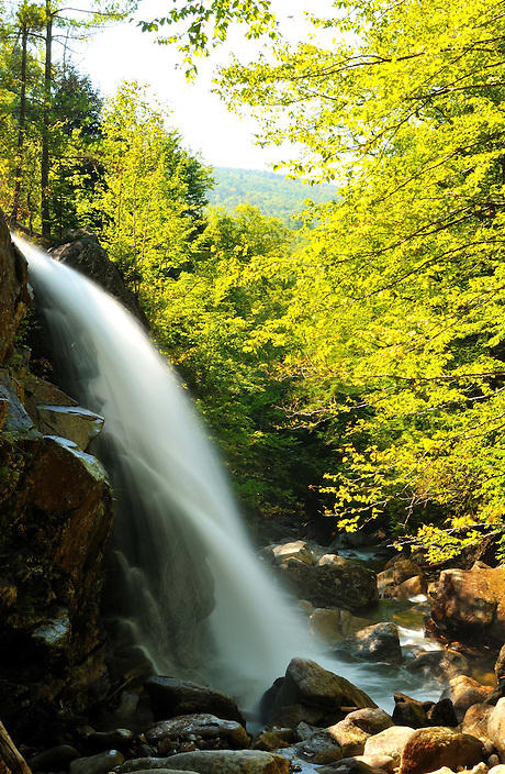 Mill Brook makes an abrupt right turn, forming Kings Chair Falls.