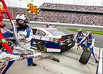 Dale Earnhardt Jr, in the #88 National Guard Chevrote pits during the NASCAR Sprint Cup Series Daytona 500 auto race at Daytona International Speedway in Daytona Beach, Florida February 24, 2013.<br /> (CREDIT: Mark Wallheiser for UPI Newsphotos) ©2013 Mark Wallheiser