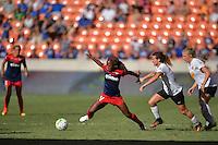 Houston, TX - Sunday Oct. 09, 2016: Francisca Ordega, Elizabeth Eddy during a National Women's Soccer League (NWSL) Championship match between the Washington Spirit and the Western New York Flash at BBVA Compass Stadium.