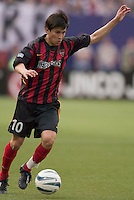 The MetroStars' Joselito Vaca. D. C. United was defeated by the NY/NJ MetroStars 3 to 2 during the MetroStars home opener at Giant's Stadium, East Rutherford, NJ, on April 17, 2004.