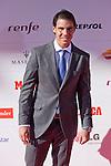 Spanish tennis player Rafael `Rafa´ Nadal attends the 75th Anniversary Marca Awards ceremony at Callao cinema in Madrid, Spain. November 26, 2013. (ALTERPHOTOS/Victor Blanco)