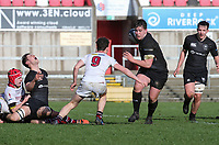Tuesday 6th March 2019 | Ulster Schools Cup - Semi Final 1<br /> <br /> Patrick McAlpine on the charge during the Ulster Schools cup semi-final between Campbell College Belfast and the Royal School Armagh at Kingspan Stadium, Ravenhill Park, Belfast, Northern Ireland. Photo by John Dickson / DICKSONDIGITAL