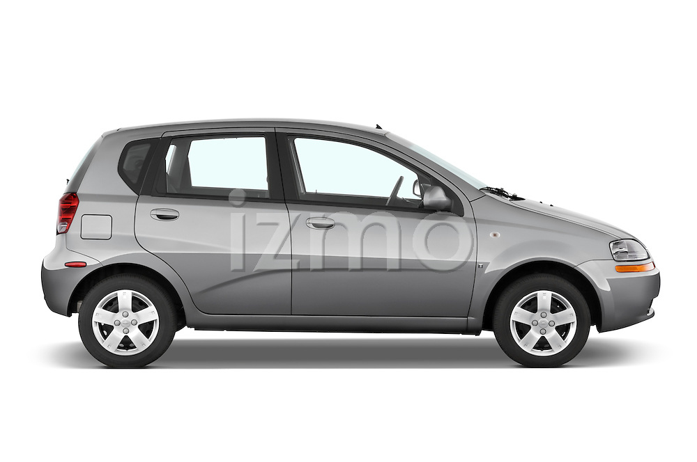 Passenger side profile view of a 2008 Chevrolet Aveo 5 LS.