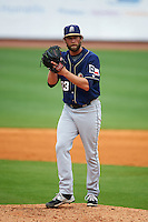 San Antonio Missions pitcher Aaron Northcraft (33) gets ready to deliver a pitch during a game against the NW Arkansas Naturals on May 31, 2015 at Arvest Ballpark in Springdale, Arkansas.  NW Arkansas defeated San Antonio 3-1.  (Mike Janes/Four Seam Images)