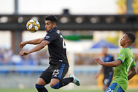 SAN JOSE, CA - SEPTEMBER 30: Andres Rios #25 of the San Jose Earthquakes during a Major League Soccer (MLS) match between the San Jose Earthquakes and the Seattle Sounders on September 30, 2019 at Avaya Stadium in San Jose, California.