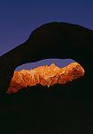 Mount Whitney through granite Mobius Arch, Alabama Hills, Eastern Sierra, California