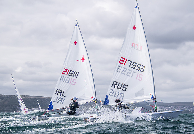 Eve McMahon of Howth Yacht Club finished the 2021 Laser Europeans in fifteenth overall and hee scorecard included a race win