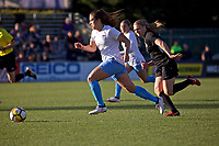 Portland, OR - Sunday March 11, 2018: Stephanie McCaffrey during a National Women's Soccer League (NWSL) pre season match between the Portland Thorns FC and the Chicago Red Stars at Merlo Field.