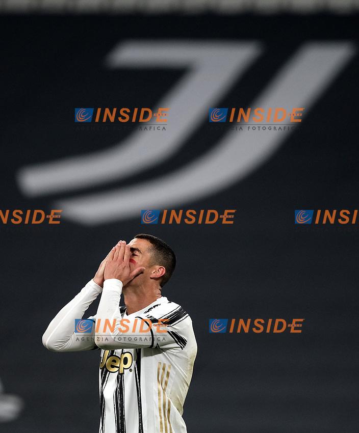 Cristiano Ronaldo of Juventus FC reacts during the Serie A football match between Juventus FC and Cagliari Calcio at Allianz stadium in Torino (Italy), November21th, 2020. Photo Federico Tardito / Insidefoto
