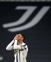 Cristiano Ronaldo of Juventus FC reacts during the Serie A football match between Juventus FC and Cagliari Calcio at Allianz stadium in Torino (Italy), November21th, 2020. Photo Federico Tardito / Insidefoto