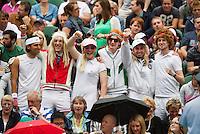 04-07-12, England, London, Tennis , Wimbledon,  Fans