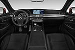 Stock photo of straight dashboard view of 2017 Lexus LS 460-Sport 4 Door Sedan Dashboard