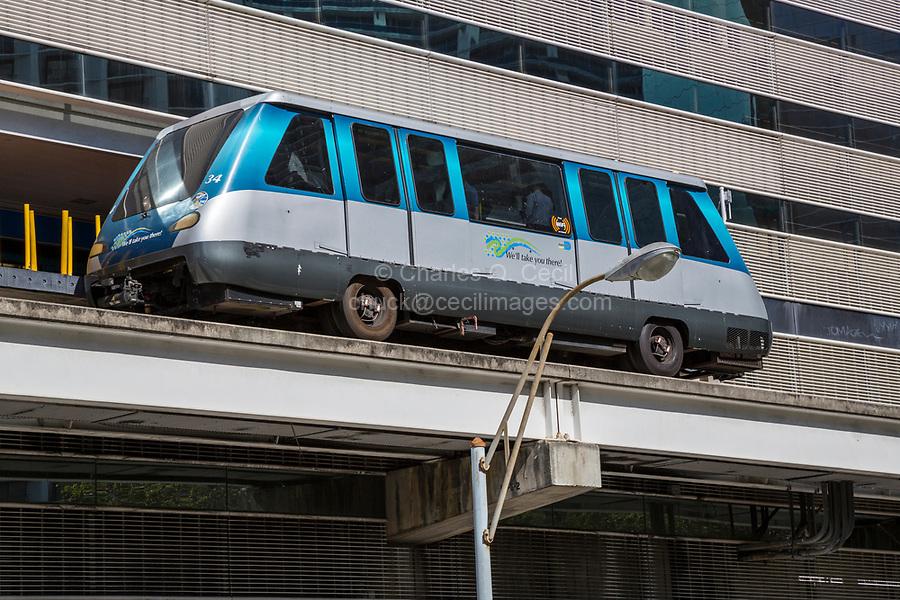 Miami, Florida.  Metromover, the Urban Transit System.