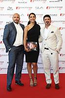 Monte-Carlo, Monaco, 16/06/2017 - 57th Monte-Carlo Television Festival Opening Ceremony Red Carpet. Joe Minoso, Miranda Rae Mayo, Yuriy Sardarov # 57EME FESTIVAL DE LA TELEVISION DE MONTE-CARLO - RED CARPET OUVERTURE