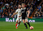 Real Madrid CF's Dani Carvajal and AFC Ajax's Frenkie de Jong during UEFA Champions League match, Round of 16, 2nd leg between Real Madrid and AFC Ajax at Santiago Bernabeu Stadium in Madrid, Spain. March 05, 2019.(ALTERPHOTOS/Manu R.B.)