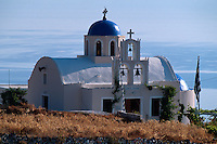 Kirche bei Fira, Insel Santorin (Santorini), Griechenland, Europa