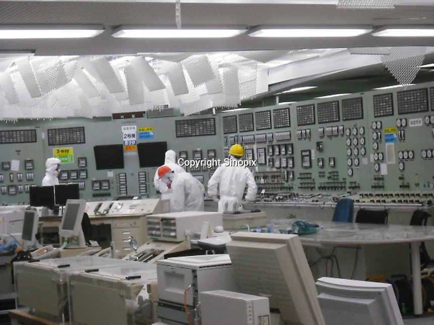 The stricken Fukushima Daiichi Nuclear Power Plant in Fukushima Prefecture, Japan. The plant was severely damaged after the March 11th earthquake and tsunami and continues to leak radiation.  <br /> 09 May 2011