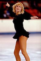 Deborah Lynn Paul of Canada competes at the 1977 Skate Canada in Moncton, Canada. Photo copyright Scott Grant.