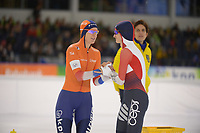 SPEEDSKATING: HEERENVEEN: 10-01- 2020, IJsstadion Thialf, European Championship distances, 1500m Ladies, Ireen Wüst (NED), Martina Sáblíková (CZE), ©foto Martin de Jong