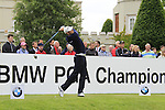 Oskar Henningsson (SWE) tees off on the 1st tee to start his round on Day 2 of the BMW PGA Championship Championship at, Wentworth Club, Surrey, England, 27th May 2011. (Photo Eoin Clarke/Golffile 2011)