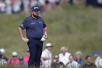15th July 2021; Royal St Georges Golf Club, Sandwich, Kent, England; The Open Championship, PGA Tour, European Tour Golf , First Round ; Shane Lowry (IRE) prepares to play his approach shot on the second hole