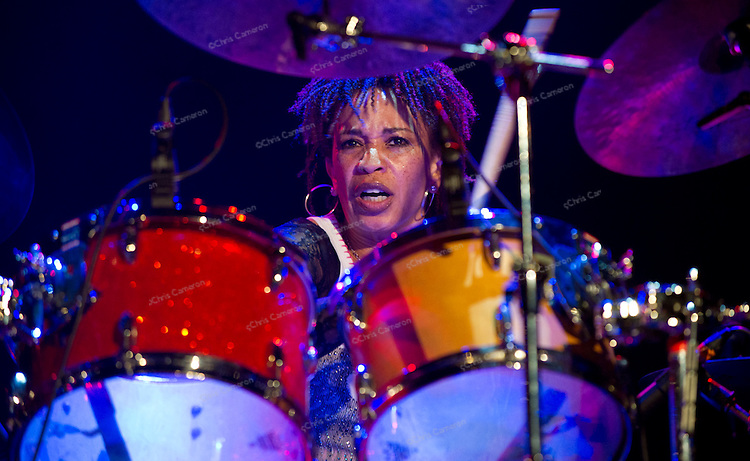 Spectrum Road featuring Cindy Blackman Santana, drums; Jack Bruce, Bass; John Medeski, and Vernon Reid, guitar. At The Vogue Theatre, June 25, 2012.