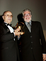 Montreal, 1999-09-06. At the closing ceremonies of the 1999 World Film Festival  tonight in Montreal (Quenec, Canada ,  the President and founder of the World Film Festival gave a `` Special Gand Prize of the Festival `` to Italian film maker Ettore Scola for his career achievement. This decision was shared by the Festival and by the Jury.<br /> Photo :  (c)  Pierre Roussel, 1999<br /> KEYWORDS :  Awards, World Film Festival, Montreal, Quebec, Canada, Ettore Scola