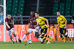 Borussia Dortmund Midfielder Emre Mor (C) in action against AC Milan Midfielder Franck Kessie (L) during the International Champions Cup 2017 match between AC Milan vs Borussia Dortmund at University Town Sports Centre Stadium on July 18, 2017 in Guangzhou, China. Photo by Marcio Rodrigo Machado / Power Sport Images