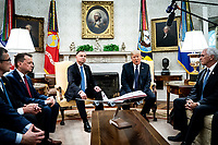 United States President Donald J. Trump and Polish President†Andrzej Duda during a bilateral meeting in the Oval Office of the White House in Washington, DC on June 24, 2020. <br /> Credit: Erin Schaff / Pool via CNP/AdMedia