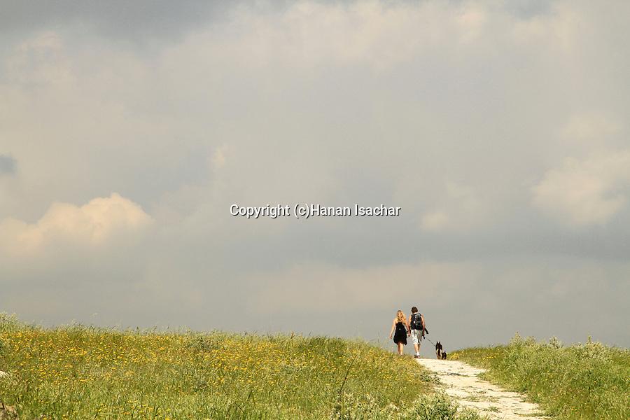 Israel, Shephelah, Beth Guvrin national park, hiking at Tel Maresha