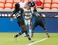 HOUSTON, TX - JUNE 13: Telma Encarnacao #23 of Portugal dribbles the ball during a game between Nigeria and Portugal at BBVA Stadium on June 13, 2021 in Houston, Texas.