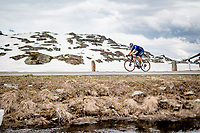 Rémi Cavagna (FRA/Deceuninck - QuickStep) up the Passo San Bernardino (2065m/SUI)<br /> <br /> 104th Giro d'Italia 2021 (2.UWT)<br /> Stage 20 (through Switzerland) from Verbania to Valle Spluga-Alpe Motta (164km)<br /> <br /> ©kramon