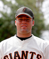 Kyle Nicholson / AZL Giants..Photo by:  Bill Mitchell/Four Seam Images