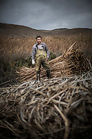 Jaime Morales stands near Totora in Totoral, Chile, September 2012...Photo by Roberto Candia
