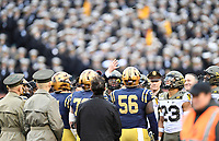 PHILADELPHIA, PA - DEC 14, 2019: President Trump with  the coin toss before game between Army and Navy at Lincoln Financial Field in Philadelphia, PA.  The Midshipmen defeated Army 31-7. (Photo by Phil Peters/Media Images International)
