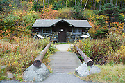 Franconia Notch State Park in the White Mountains, New Hampshire USA during the autumn months