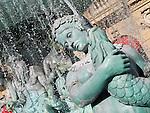 Closeup of replica of La Fountaine des Mers at the Paris Las Vegas Hotel and Casino.