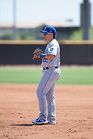 AZL Royals first baseman Hector Pineda (22) during an Arizona League game against the AZL Padres 1 at Peoria Sports Complex on July 4, 2018 in Peoria, Arizona. The AZL Royals defeated the AZL Padres 1 5-4. (Zachary Lucy/Four Seam Images)