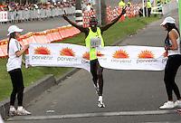 BOGOTA -COLOMBIA. 27-07-2014. Geoffrey Kamworor de Kenia gano por segunda vez la Media Maraton de Bogota con un tiempo de de 1hora,eminutos y 18 segundos . Photo: VizzorImage/ Felipe Caicedo / Staff