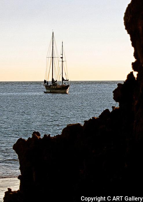 Anchored Yacht 2, Newport Beach, CA